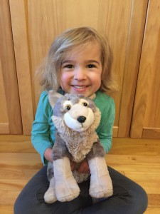 """I love my wolf so much. It is the cosiest toy and the wolf sparkles in the light!"" - Molly, age 4"